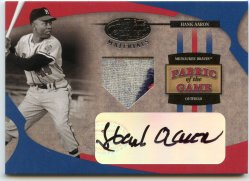 2005 Leaf Certified Materials Hank Aaron Fabric of the Game Auto Patch