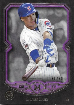 2017 Topps Museum Collection Purple Baez