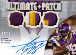 2009  Ultimate Collection Adrian Peterson Triple Patch Auto