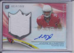 Andre Ellington 2013 Topps Platinum Rookie Patch Autographs Refractor /1000
