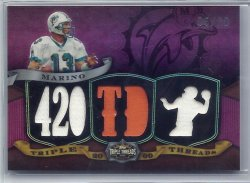 2009 Topps Triple Threads Purple Relic Dan Marino