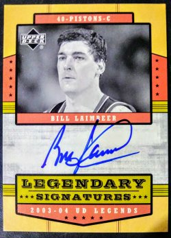 2003-04 Upper Deck Legends Legendary Signatures Bill Laimbeer