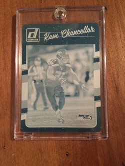 2016 Panini Plates and Patches  Kam Chancellor Printing Plate Cyan
