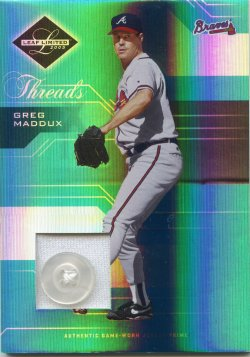 2005 Leaf Limited Greg Maddux Threads Button