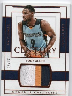 2015-16 Panini National Treasures Allen, Tony - Century Materials Bronze
