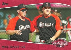 2015 Topps Update All-Star Access Mike Trout