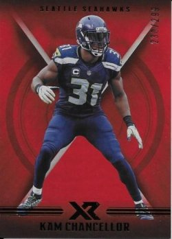 2017 Panini XR (RED PARALLEL) Kam Chancellor
