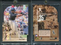 1999  SP Authentic Home Run Chronicles Die Cuts Frank Thomas