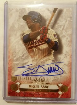 2016 Topps Tier One Miguel Sano