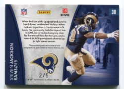 2011 Panini Certified Steven Jackson Hometown Heroes Patch Autograph Back