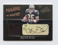 2006 Absolute Memorabilia Marks of Fame Material Autographs Prime #31 Reggie Bush/25