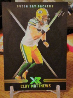 2017 Panini XR Black Clay Matthews