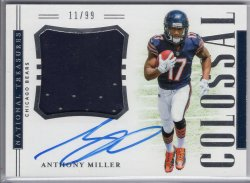 2018 Panini National Treasures Anthony Miller Rookie Colossal Signatures