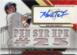 2016 Topps Triple Threads Mark Teixeira Auto Relic Ruby
