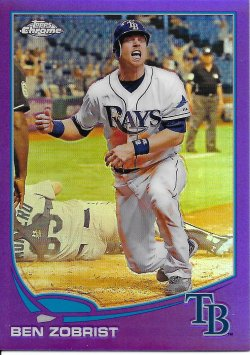 2013 Topps Chrome Purple Refractors Zobrist