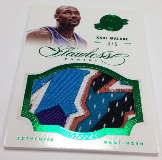 Karl Malone Flawless Jumbo Patch Emerald 3/5