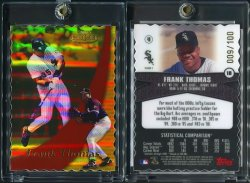 2000  Topps Gold Label Class 1 Gold Die Cut Frank Thomas