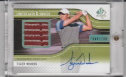 2012 Upper Deck SP Authentic Limited Auto & Swatch Tiger Woods