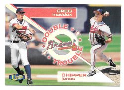 1998 Fleer Ultra Double Trouble Chipper Jones and Greg Maddux