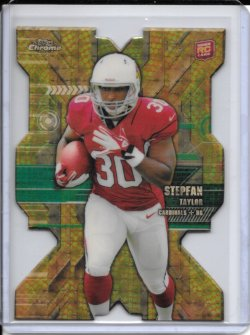 2013 Topps Chrome Superfractor Rookie Die Cut - Stepfan Taylor