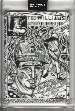 2020 Topps Project 2020 Ted Williams by JK5