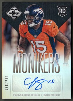 2013  Limited Monikers Autographs Silver Tavarres King