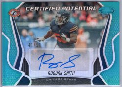 2019 Panini Certified Roquan Smith Certified Potential Signatures Mirror Teal