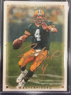 2008 Upper Deck Masterpieces Brett Favre In-Person Auto