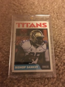 Bishop Sankey Personalized Custom Card Auto
