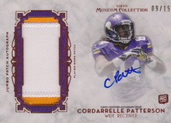 2013  Topps Museum Collection Cordarrelle Patterson Jumbo Patch Auto