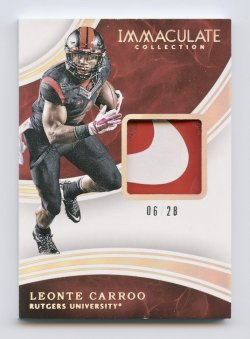 2016 Immaculate Collection Collegiate Patch Gold #126 Leonte Carroo/28