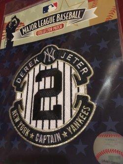 Genuine MLB Patch            DEREK JETER  #2  NewYork YANKEE Captain SS