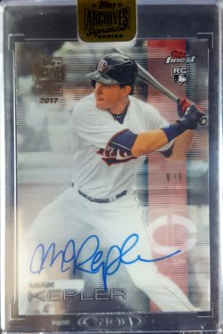 2017 Topps Archives Signature Series Max Kepler 2016 Finest