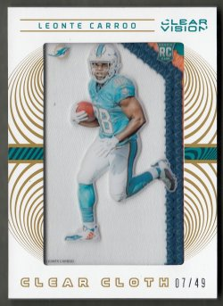 2016 Panini Clear Vision Rookie Clear Cloth Jerseys Prime Leonte Carroo