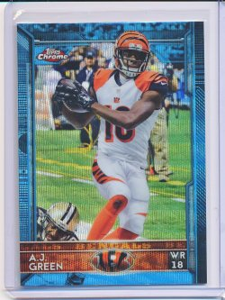 A.J. Green 2015 Topps Chrome Blue Wave Refractor
