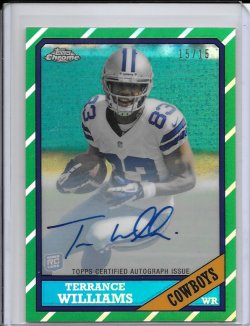 2013 Topps Chrome 1986 Refractor Autograph - Terrance Williams
