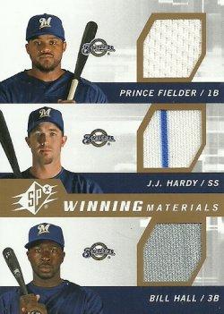 2009  SPx Winning Material Triple Fielder/Hardy/Hall