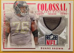 2014 Panini National Treasures  Duane Brown Colossal Pro Bowl Logo Patch