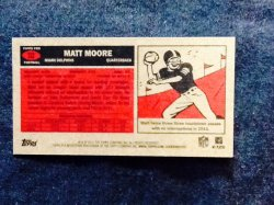 2012 Topps 1957 Throwback  Matt Moore #112 Back
