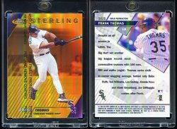 1999  Finest Gold Refractor (Non Die Cut/Non Serial #d) Frank Thomas