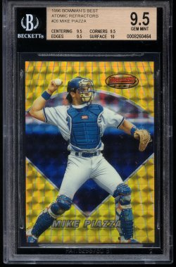 1996 Bowman Bowmans Best Atomic Refractor Mike Piazza