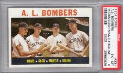 1964 Topps Topps AL Bombers Maris/Cash/Mantle/Kaline
