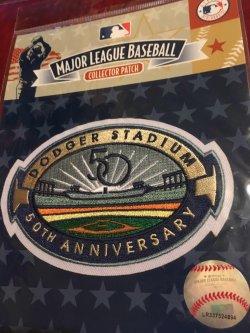 Genuine MLB Patch                                       Los Angeles Dodger Stadium 50th Anniversary