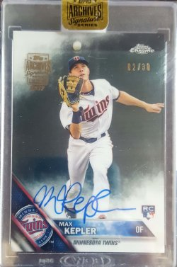2017 Topps Archives Signature Series Max Kepler 2016 Topps Chrome