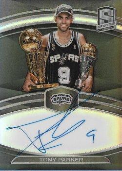 2019-20 Panini Spectra NBA Champions Signatures Tony Parker #ed 25/35