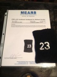 1990  Michael Jordan armband w/ #23  MEARS authenticated