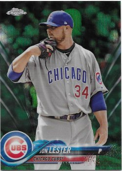 2018 Topps Chrome Green Wave Refractors Lester