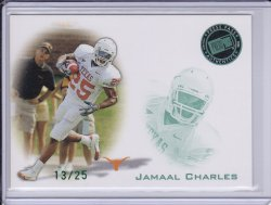 Jamaal Charles 2008 Press Pass Autographs Green (missing autograph) /25