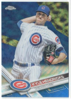 2017 Topps Chrome Blue Wave Refractors Kyle Hendricks