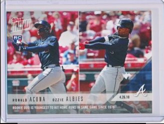 Ronald Acuna and Ozzie Albies 2018 Topps Now RC #130